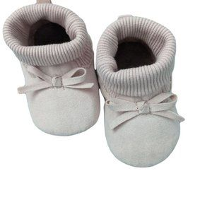 Old Navy Baby Girl Pink Suede Flat Booties US 3-9M